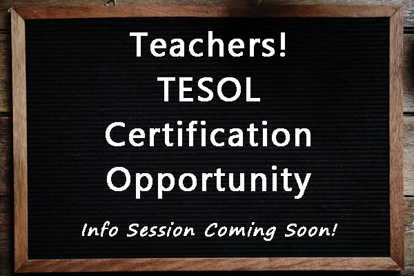 Pursue Your TESOL Certification
